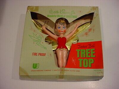 1960's Japan DISNEY Tinker Bell TREE TOPPER in box Wonderful World of Christmas