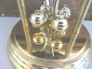 Vintage Heirloom Quartz 85 Mantel Anniversary Clock Glass dome- North Shore Greater Vancouver Area image 7