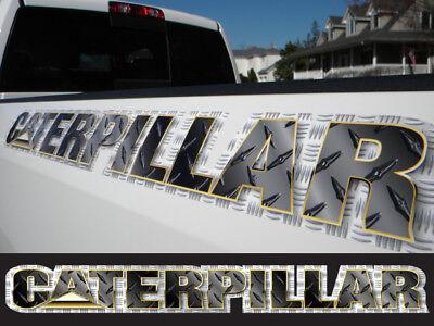 Caterpillar decal sticker - Black Diamond Plate - windshield window tailgate