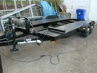 car trailer 18 f élétric brack 2 axles 3500 p