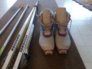 Men's Cross Country Skis, Boots, and Poles