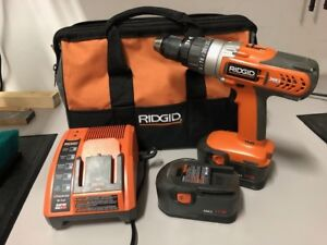 Rigid 1/2 Inch Hammer Drill with Charger and 2 Batteries