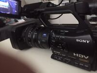 Sony HDV Camcorder HVR-Z7N with Memory Record unit PAL& NTSC.DRUM 430 TAPE 6750 S/N. 414567 3 cmos