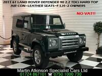 2011 61 Land Rover 90 Defender 2.2 TDCi Hard Top~2 OWNERS~