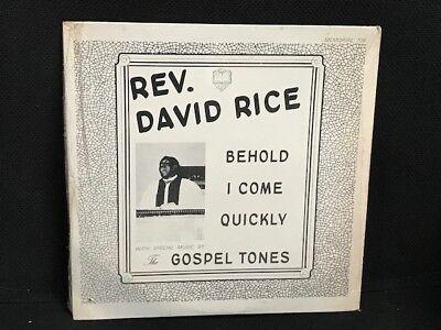 Rev David Rice & Gospel Tones Behold LP black soul w/ Something Got A Hold On