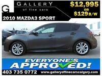 2010 Mazda Mazda3 GT $129 bi-weekly APPLY TODAY DRIVE TODAY