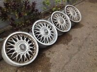 "BBS 4x100, 15"", 6J. Alloy wheels, deep dish Original Made in Germany, not borbet, tm"