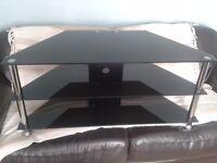 TV Unit - Black Glass, Corner Unit