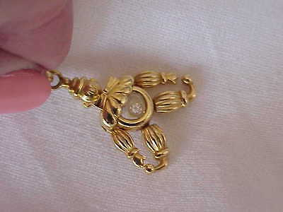 CHOPARD SIGNED & NUMBERED 18K SOLID GOLD DIAMOND CLOWN PENDANT