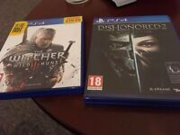 Witcher 3 / Dishonored 2 Limited Edition - £10 each / £15 for both