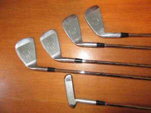 FOUR IRONS AND ONE PUTTER: Men's Right Hand, Spalding Elite, #5 Stratford Kitchener Area image 4