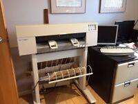 Hewlett Packard Designjet 430 inkjet plotter on stand