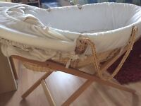 Moses basket with 2 stands from Mamas and Papas