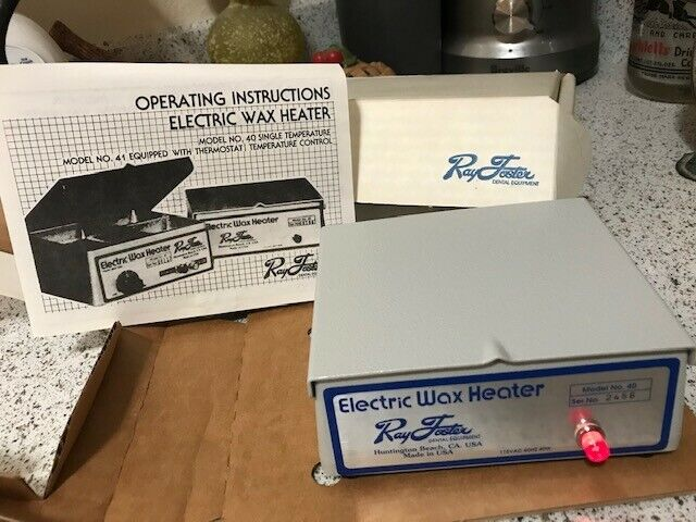 RAY FOSTER WAX HEATER, MODEL 40, PERFECT CONDITION, W/ORIGINAL BOX AND PAPERWORK