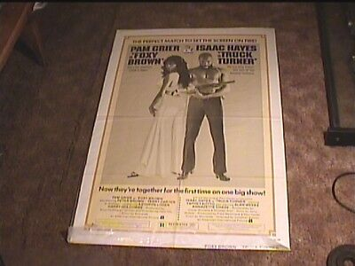 FOXY BROWN / TRUCK TURNER COMBO 1974 ORIG MOVIE POSTER PAM GRIER