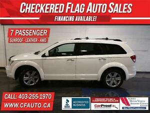 2010 Dodge Journey R/T-AWD-7 SEATER-LEATHER-SUNROOF-97000km