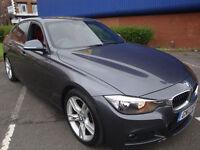 13 BMW 318 2.0TD ( 143bhp ) M SPORT H SEATS /LEATHER/CRUISE/£30 ROAD TAX