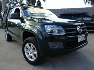 2015 Volkswagen Amarok 2H MY15 TDI340 4x2 Green 6 Speed Manual Cab Chassis Enfield Port Adelaide Area Preview
