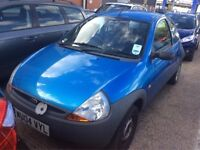 2004 FORD KA 1.3 PETROL MANUAL HATCHBACK STARTS AND DRIVES BLUE CHEAP CAR NOT FIESTA CORSA CLIO POLO