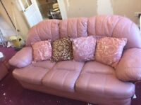 FREE 3 SEATER SOFA & 2 ARMCHAIRS INC ONE RECLINER