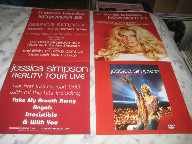 JESSICA SIMPSON-(reality tour live)-1 POSTER FLAT-2 SIDED-12X28-VERY RARE