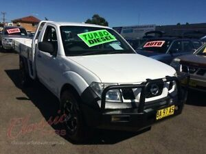 2008 Nissan Navara D40 RX (4x4) White 6 Speed Manual Cab Chassis Lansvale Liverpool Area Preview