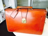 Exquisite Swaine Adeney Brigg/Papworth tan English bridle leather briefcase seeks new owner