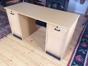 Small writing desk with shutter doors