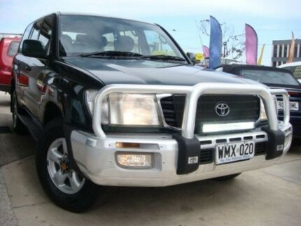 2001 Toyota Landcruiser HDJ100R GXV Green 4 Speed Automatic Wagon Enfield Port Adelaide Area Preview