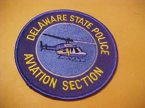DELAWARE STATE POLICE AVIATION SECTION POLICE PATCH SHOULDER SIZE NEW 3.5 X3.5
