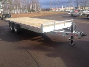 "NEW 2018 K-TRAIL 102"" x 20' HD GALVANIZED DECK-OVER TRAILER"