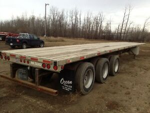 2002 Utility 53' Tri-Axle Highboy - Aluminium Deck