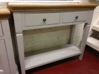 New Chester Oak & Grey Hall Console Table