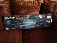 Vivitar Refractor Telescope and Tripod