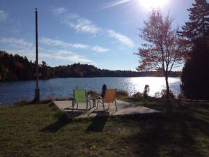Chalet bord de lac, magnifique vue