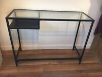 Ikea metal and glass desk 100x75x35