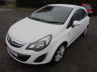 Vauxhall Corsa EXCITE 1.0i 12v ecoFLEX CAT C Damage Repaired. (white) 2014