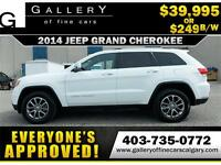 2014 Grand Cherokee LIMITED $249 bi-weekly APPLY NOW DRIVE NOW