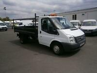 Ford Transit T350 MWB Tipper tdci 100ps DIESEL MANUAL WHITE (2011)