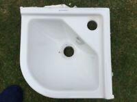 Corner toilet sink