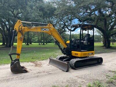 2017 Jcb 48z-1 Mini Excavator - 10200 Lbs - Low Hours - Ready To Work