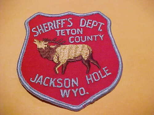TETON COUNTY WYOMING POLICE PATCH SHOULDER SIZE UNUSED