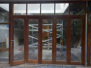 Cedar bifold doors, windows and door - Entire wall available Manly Manly Area Preview