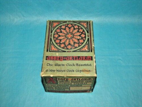 Antique New Haven Original Alarm Clock Box