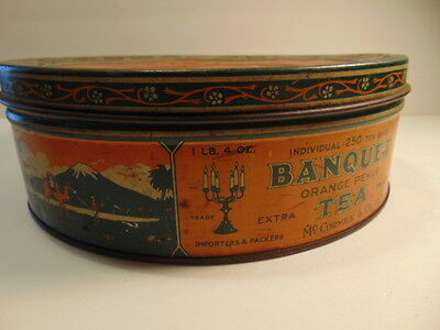 Vintage Mccormick   Co Banquet Orange Pekoetea  Tin Can  Empty