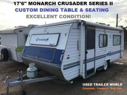 "17'6"" MONARCH CRUSADER SERIES II POP TOP CARAVAN. CUSTOM DINETTE!"