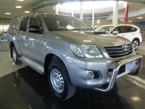2014 Toyota Hilux KUN26R MY14 SR Double Cab Silver 5 Speed Automatic Utility Narre Warren Casey Area Preview