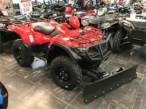 2016SUZUKI KINGQUAD 500 (FREE WINCH, PLOW, FRONT & REAR BUMPERS)
