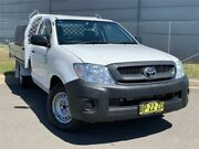 2009 Toyota Hilux TGN16R MY09 Workmate 4x2 White 5 Speed Manual Cab Chassis Blacktown Blacktown Area Preview