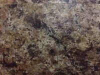 Mocca brown Granite Laminate Kitchen Worktop - Brand New 12 foot long